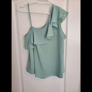 Sienna Sky Mint Green One Shoulder Top